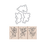 Hero Arts- Season of Wonder Collection - Die and Wood Mount Stamp Set - Angel Trio