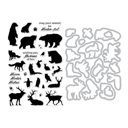 Hero Arts- Season of Wonder Collection - Die and Clear Photopolymer Stamp Set - Winter Animals