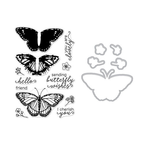 Hero Arts - Die and Clear Photopolymer Stamp Set - Color Layer Monarch