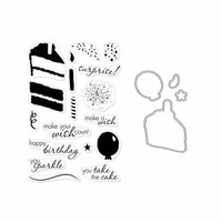 Hero Arts - Die and Clear Photopolymer Stamp Set - Color Layering Birthday Cake