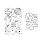 Hero Arts - Die and Clear Photopolymer Stamp Set - Sky's The Limit Balloons