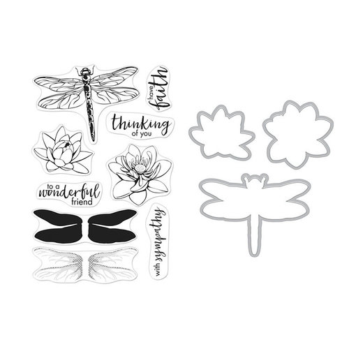 Hero Arts - Die and Clear Photopolymer Stamp Set - Color Layering Dragonfly