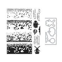 Hero Arts - Die and Clear Photopolymer Stamp Set - Color Layering Tulip Field