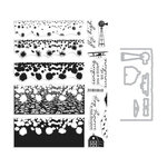 Hero Arts - Die and Clear Photopolymer Stamp Set - Color Layering Sunflower Field