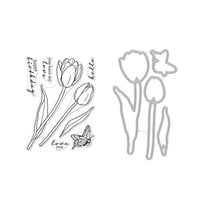 Hero Arts - Die and Clear Photopolymer Stamp Set - Florals Tulips