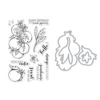 Hero Arts - Die and Clear Photopolymer Stamp Set - Orange Blossoms