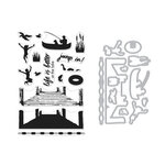 Hero Arts - Die and Clear Photopolymer Stamp Set - Color Layering Pier at the Lake