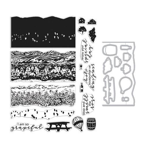 Hero Arts - Die and Clear Photopolymer Stamp Set - Vineyard HeroScape