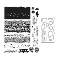 Hero Arts - Die and Clear Photopolymer Stamp Set - Vineyard HeroScape