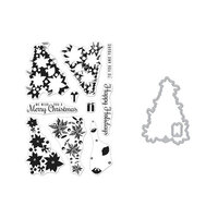 Hero Arts - Die and Clear Photopolymer Stamp Set - Color Layering Poinsettia Christmas Tree