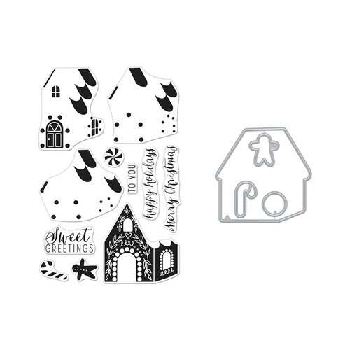 Hero Arts - Die and Clear Photopolymer Stamp Set - Color Layering Gingerbread House