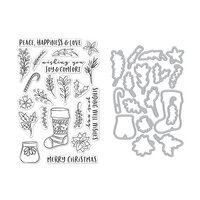 Hero Arts - Die and Clear Photopolymer Stamp Set - Stocking Bouquet