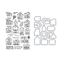 Hero Arts - Die and Clear Photopolymer Stamp Set - Cozy Town