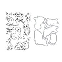 Hero Arts - Die and Clear Photopolymer Stamp Set - Fawn and Friends