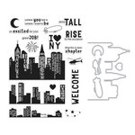 Hero Arts - Die and Clear Photopolymer Stamp Set - City HeroScape
