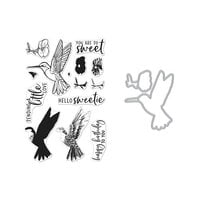 Hero Arts - Die and Clear Photopolymer Stamp Set - Color Layering Hummingbird