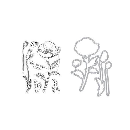 Hero Arts - Die and Clear Photopolymer Stamp Set - Hero Florals Poppy