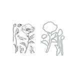 Hero Arts - Die and Clear Photopolymer Stamp Set - Hero Florals Poppy