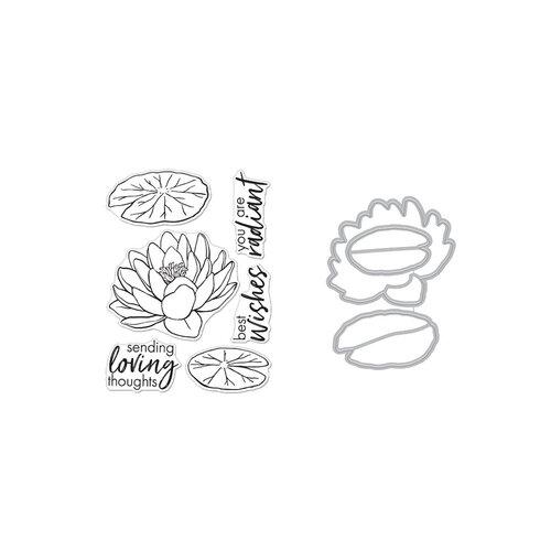 Hero Arts - Die and Clear Photopolymer Stamp Set - Hero Florals Lotus