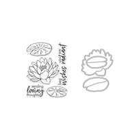 Hero Arts - Die and Clear Photopolymer Stamp Set - Hero Florals Lotus
