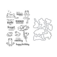 Hero Arts - Die and Clear Photopolymer Stamp Set - Hoppy Day