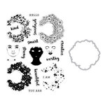 Hero Arts - Die and Clear Photopolymer Stamp Set - Color Layering Flower Power