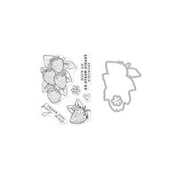 Hero Arts - Die and Clear Photopolymer Stamp Set - Hero Florals Strawberries Combo