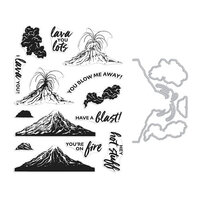 Hero Arts - Die and Clear Photopolymer Stamp Set - Volcano HeroScape Combo