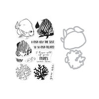Hero Arts - Die and Clear Photopolymer Stamp Set - Color Layering Royal Angelfish Combo