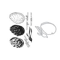 Hero Arts - Die and Clear Photopolymer Stamp Set - Color Layering Abalone Combo