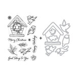 Hero Arts - Die and Clear Photopolymer Stamp Set - Christmas Robins