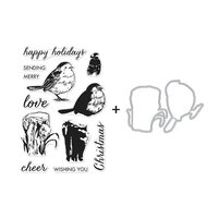 Hero Arts - Christmas - Die and Clear Photopolymer Stamp Set - Color Layering Robin