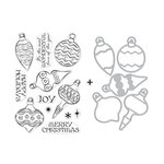Hero Arts - Christmas - Die and Clear Photopolymer Stamp Set - Holiday Ornaments