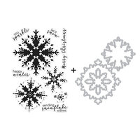 Hero Arts - Christmas - Die and Clear Photopolymer Stamp Set - Color Layering Snowflake