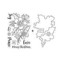 Hero Arts - Die and Clear Photopolymer Stamp Set - Christmas Rose