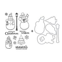 Hero Arts - Christmas - Die and Clear Photopolymer Stamp Set - Merry Snowmen