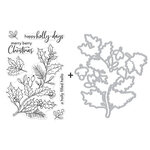 Hero Arts - Christmas - Die and Clear Photopolymer Stamp Set - Holly Berries