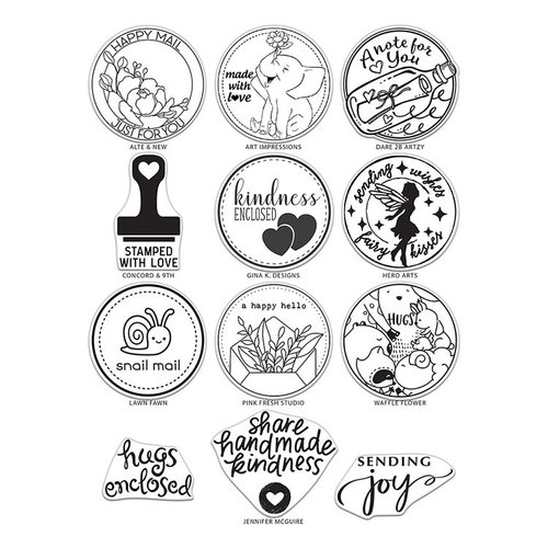 The Stamping Village - Clear Photopolymer Stamps - Combo Set - Mail Delivery