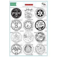 The Stamping Village - Christmas - Clear Photopolymer Stamps - Combo Set - Holiday Seals