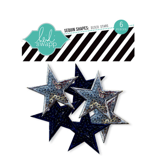 Heidi Swapp - No Limits Collection - Sequins Shapes - Disco Stars