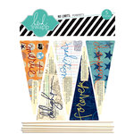 Heidi Swapp - No Limits Collection - Wood Sticks - Pennants