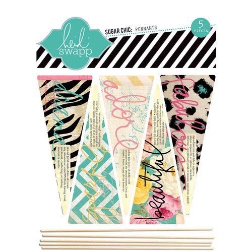 Heidi Swapp - Sugar Chic Collection - Wood Sticks - Pennants