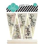 Heidi Swapp - No Limits Collection - Wood Sticks - Pennants - Destination