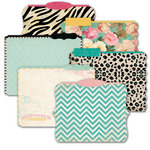 Heidi Swapp - Sugar Chic Collection - Die Cut File Folders - Memory Files