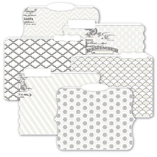 Heidi Swapp - Color Magic Collection - Resist Die Cut File Folders - Memory Files
