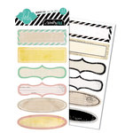 Heidi Swapp - Memory File Collection - Cardstock Stickers - File Tab Labels