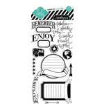 Heidi Swapp - Memory File Collection - Clear Acrylic Stamps