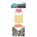 Heidi Swapp - Sugar Chic Collection - Sentiment Storage - Mini Envelopes and Cards