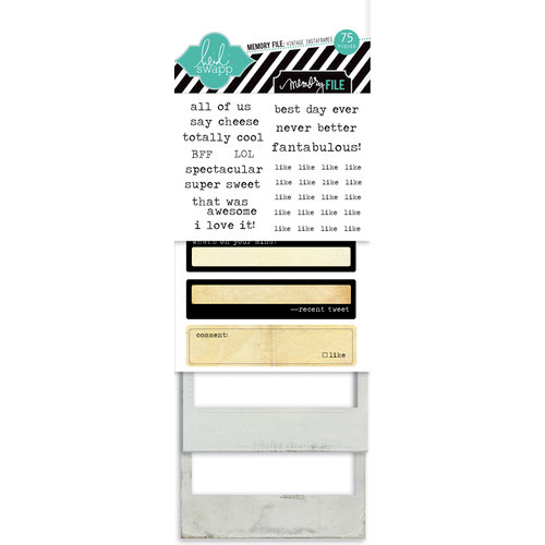 Heidi Swapp - Memory File Collection - Instaframes - Polaroid Style Frames and Stickers - Vintage