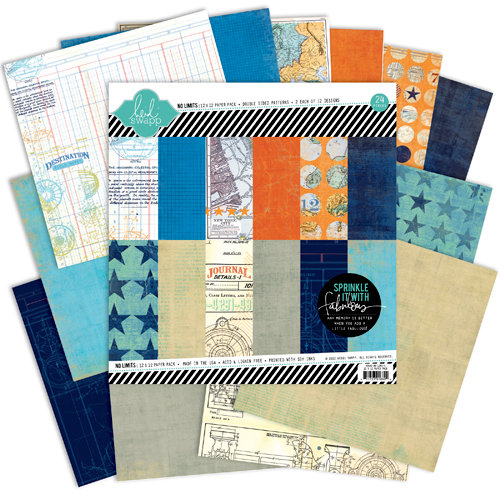 Heidi Swapp - No Limits Collection - 12 x 12 Paper Pack